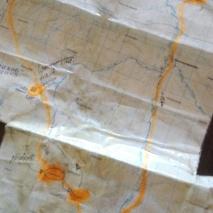 Reittimme ja mukana oleva kartta